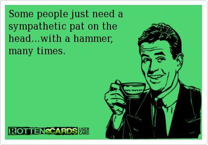 Sympathetic pat.