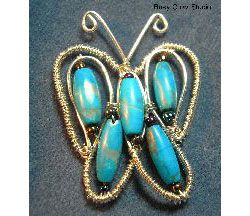 Coiled Wire and Bead Butterfly Pattern  at Sova-Enterprises.com