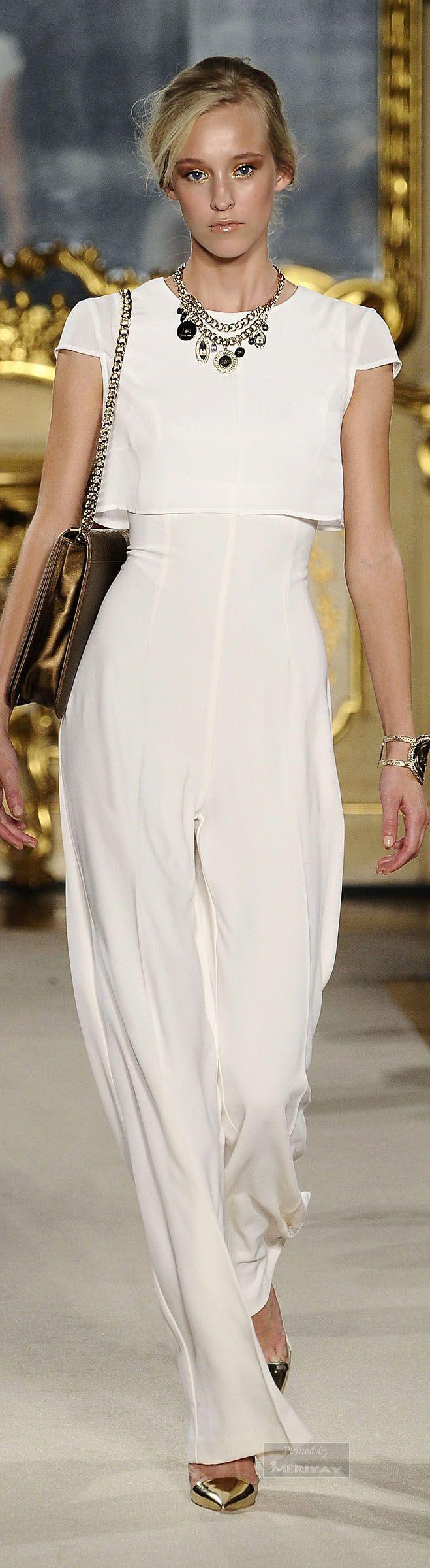 White out glamour/karen cox..Elisabetta Franchi, S/S 2015.