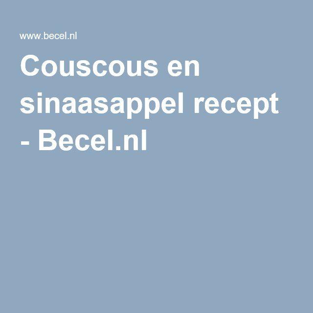 Couscous en sinaasappel recept - Becel.nl
