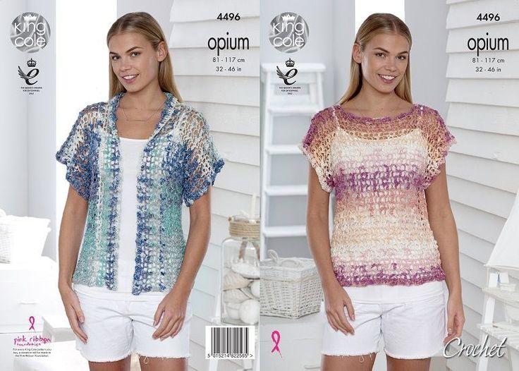 23 best Cool Summer Tops in Crochet images on Pinterest | Summer ...