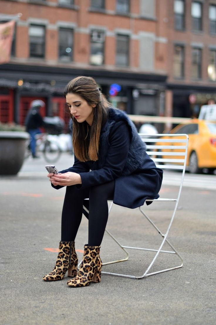 Navy Coat Coach Leopard Booties Louboutins & Love Fashion Blog Esther Santer NYC Street Style Blogger Outfit OOTD Fur Topshop Shopping Girl Women Swag Photoshoot Model Beautiful Winter Look NYFW Tights Ivanka Trump Soho Tote Shoes Hair City Lifestyle.jpg
