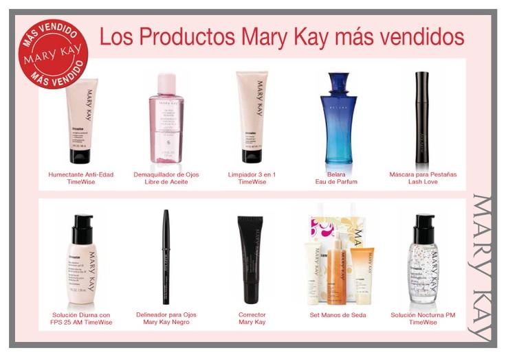 Productos mas vendidos