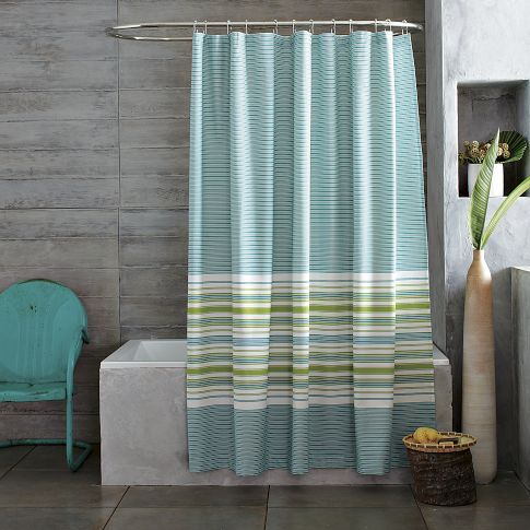 West Elm Gradiated Stripe Shower Curtain Teal Lime Green And Other Furniture Decor Products