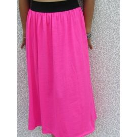 Long Skirt / Strapless Dress 2 in 1/ Fuchsia