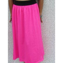 Long Skirt / Strapless Dress 2 in 1/ Fuchsia