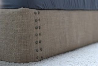 DIY upholster the box springs! no more annoying bedskirts!!