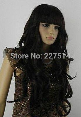 Co. Mxj01426w > HE-J35 новый вьющиеся волнистые верховный длинные волосы косплей черный мода парик