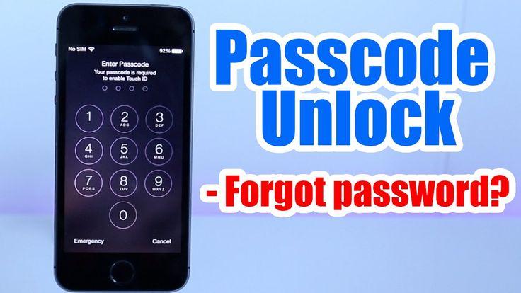 Passcode Unlock Iphone 5, 5S, 5C, 6, 6 plus, 4s, 4, / Forgot Passcode / Iphone Disabled any iOS