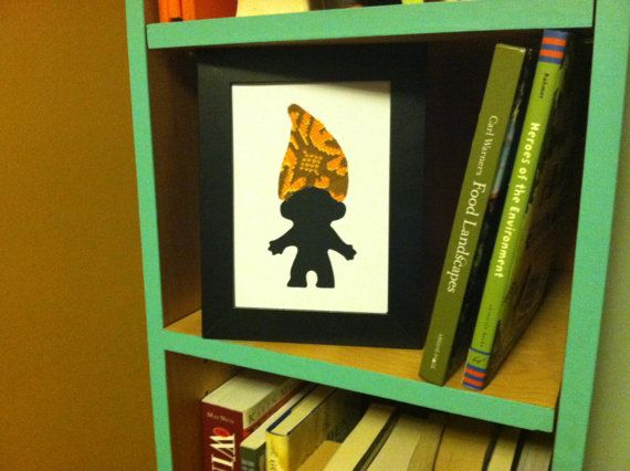 Troll 5x7 Framed Silhouette Custom Art