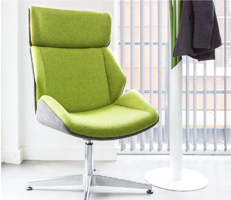 Skara High Back Lounge Chair With 4 Star Swivelling Base   Skara   Soft  Seating