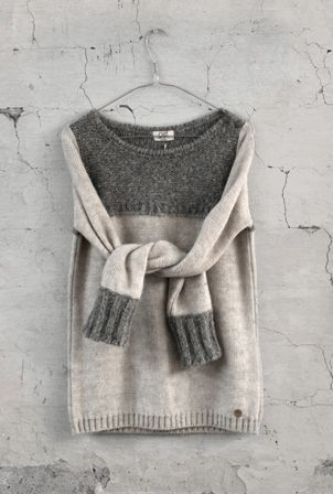 Two sweaters make one.