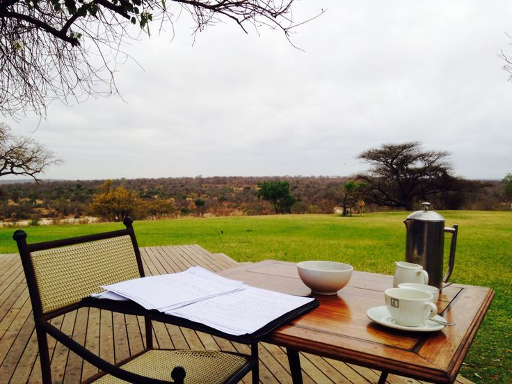 My mobile office while on safari with Latin American group in Kruger National Park.
