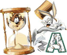 Oh my Alfabetos!: Alfabeto animado de Bugs Bunny con reloj de arena.