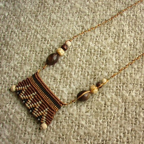 Cavendoli macrame necklace african boho by MammaEarthCreations, $47.00