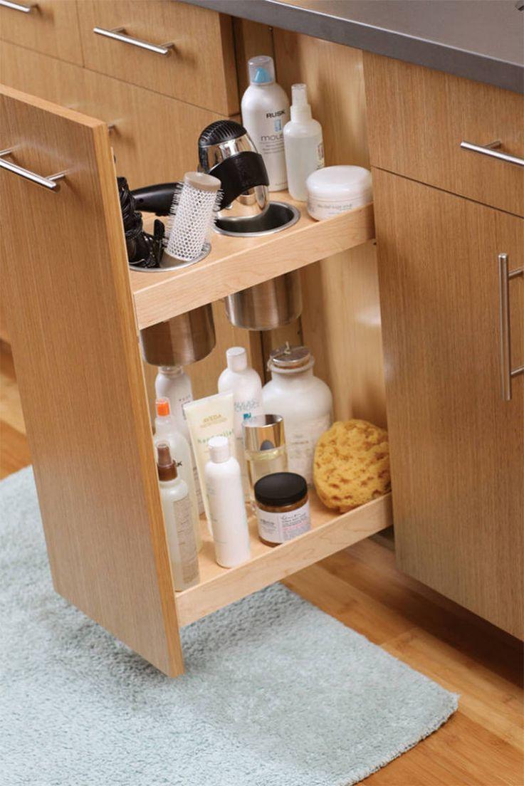 Que tal montar um gabinete com uma gaveta vertical? Esse é da DURA Supreme Cabinetry.