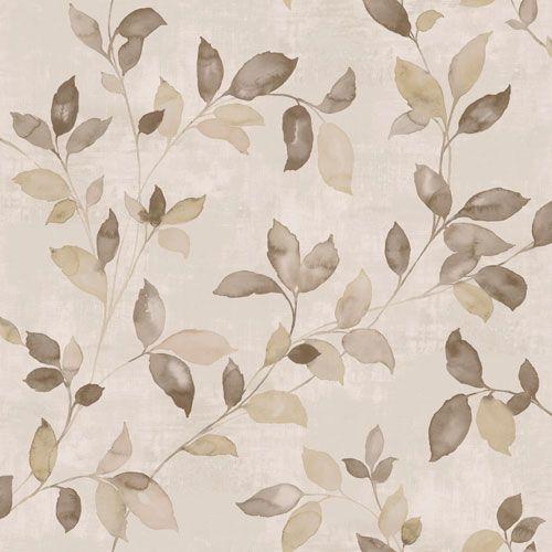 Vackra slingrande blad i beige och koppar från kollektionen Arcadia AC-18552. Klicka för att se fler vackra tapeter för ditt hem!