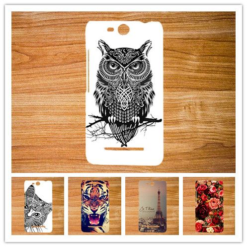 For micromax Q392 Case Cover,Diy Colored Painting Tiger Owl Soft Tpu Cover Case For Micromax Canvas Power 2 Q392 Phone Sheer