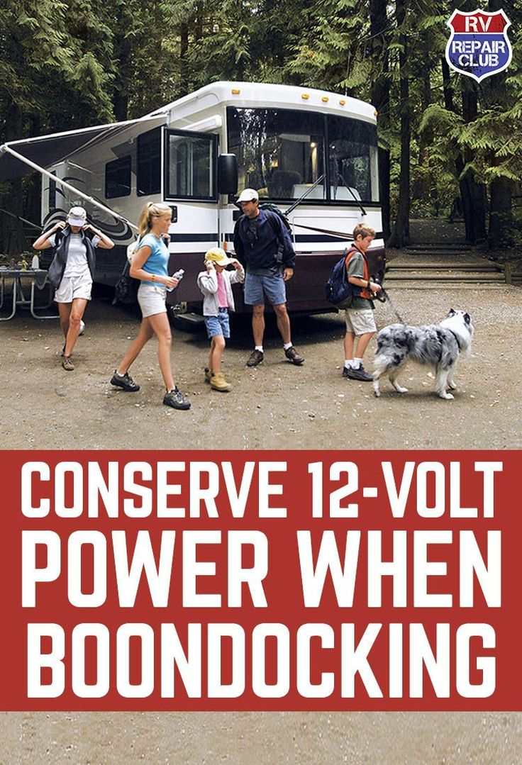 "Whether you call it boondocking, dry camping, or ""getting off the grid"", camping without an electrical connection requires some planning and preparation if you plan on staying out even a short period of time. Without a 120-volt electrical connection, you'll be relying on your house batteries and will not be able to recharge them normally with an on-board converter."