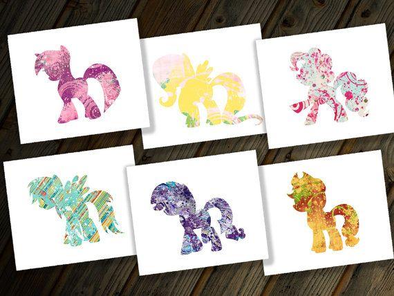 Hasbro My Little Pony Friendship is Magic MLP Six Digital Prints Set Rainbow Dash Twilight Sparkle Pinkie Pie Applejack Rarity & Fluttershy