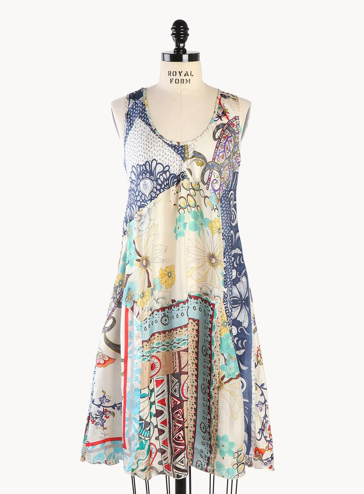 I wanna make this...Theo Midnight Patchwork Dress - Clothing