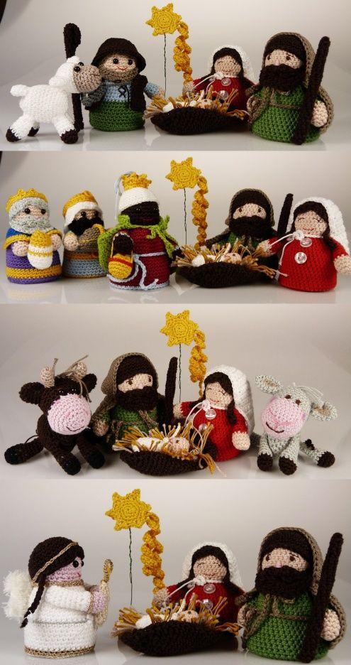 Gehäkelte Krippe / crocheted manger