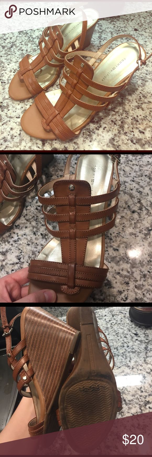 Tommy Hilfiger Heels Wedges Size 6.5 Great condition! Tommy Hilfiger Shoes Heels