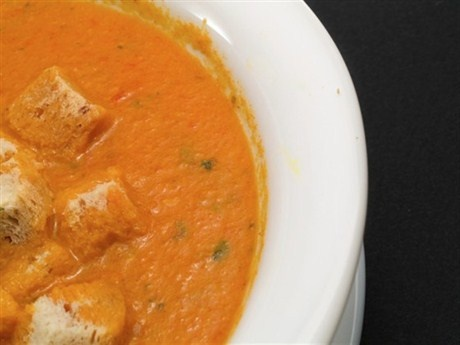 Крем-суп из батата и апельсинов