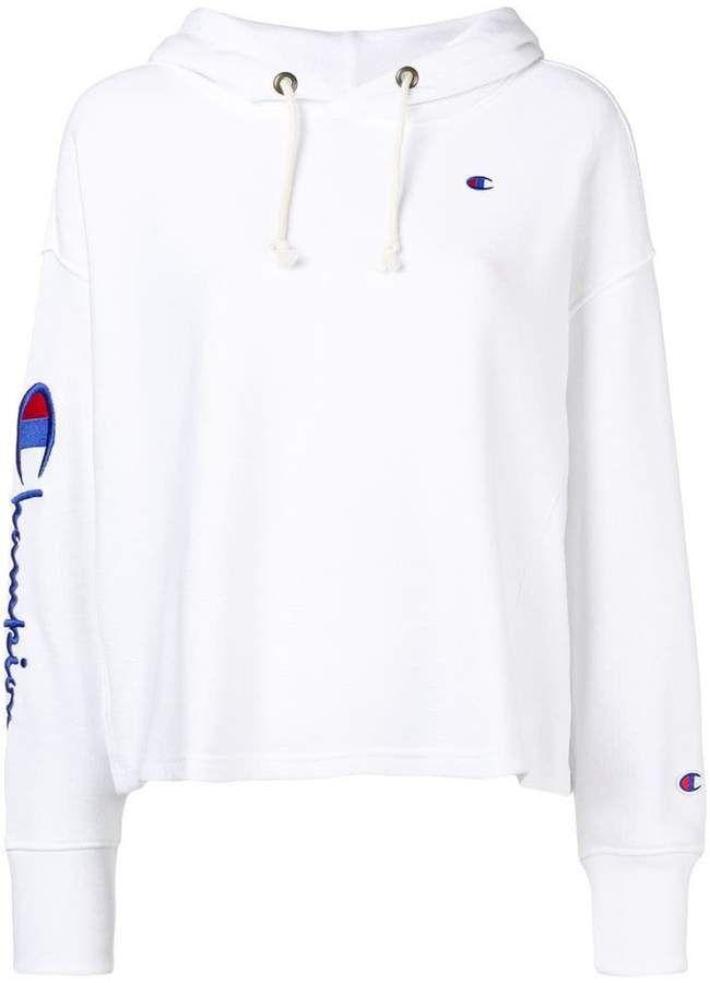 Champion Logo Hoodie Farfetch | Champion clothing