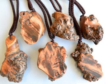 Natural Driftwood Pendant Necklace Natural Shape and Color