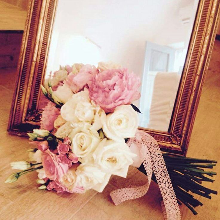 Bridal bouquet,  white roses, pink peonies,  lisianthous, pink roses,  baby roses, white peony www.santoweddingsbymk.com
