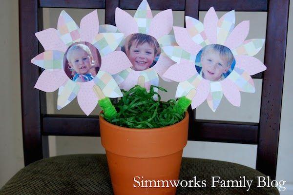 maceta con flores para el Día de la Madre