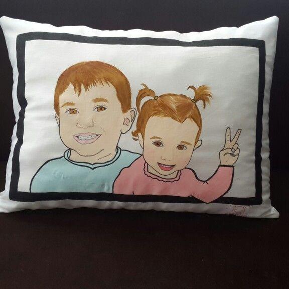 #portre #yastik #yastık #elyapimi #kumasboyama #pillow