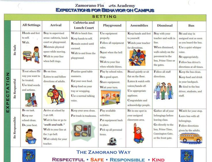 school wide examples discipline plan classroom | Policies and Expectations / Positive Behavior Intervention Strategies ...