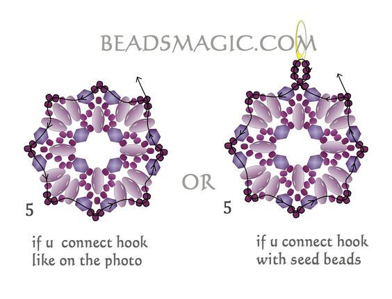 Free pattern for beaded earrings Dulce U need: super duo or twin seed beads crystal: