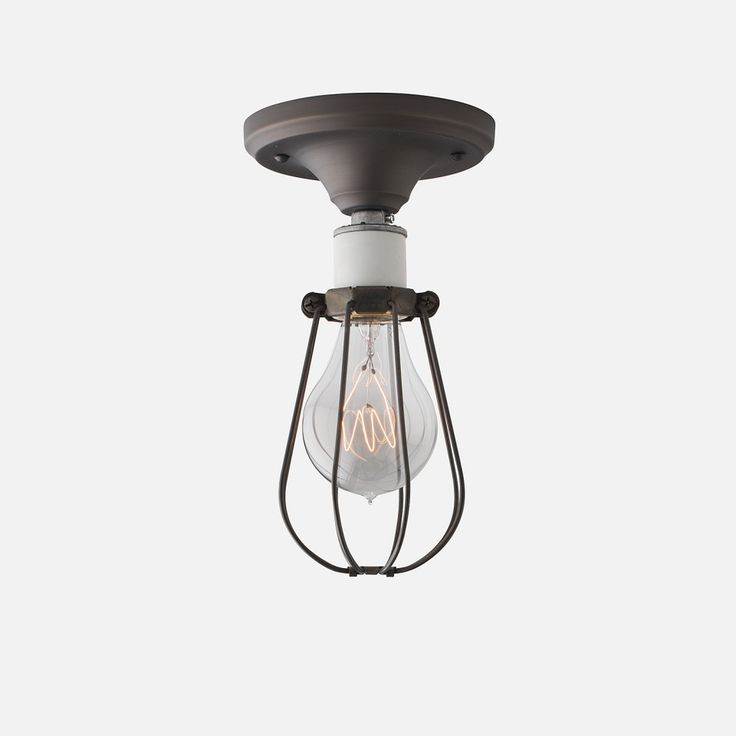 Franklin with Cage Surface Mount Light Fixture   Schoolhouse Electric u0026 Supply ... & 73 best LIGHTS images on Pinterest   Light fixtures Lighting ... azcodes.com