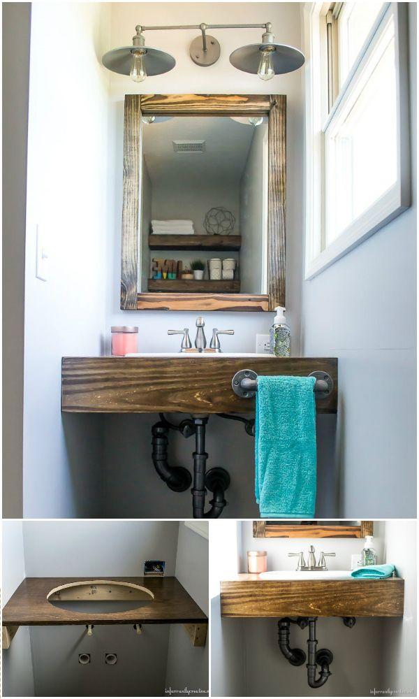 Erstaunliche Diy Badezimmer Eitelkeiten Die Badezimmer Verschonern Werden Badezimmer Diy Bader Und Badezimmerideen