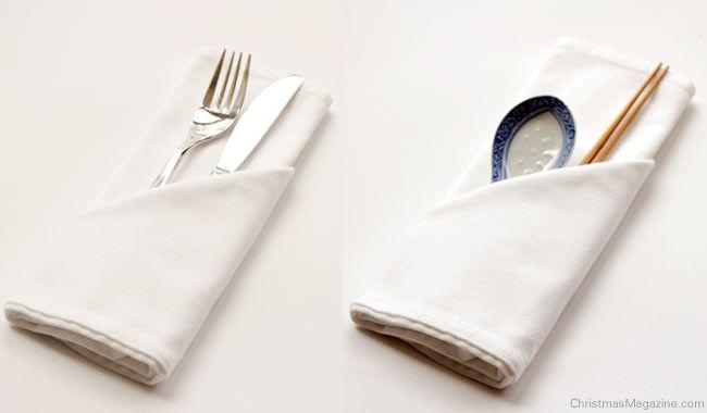 Silverware Pocket - napkin fold
