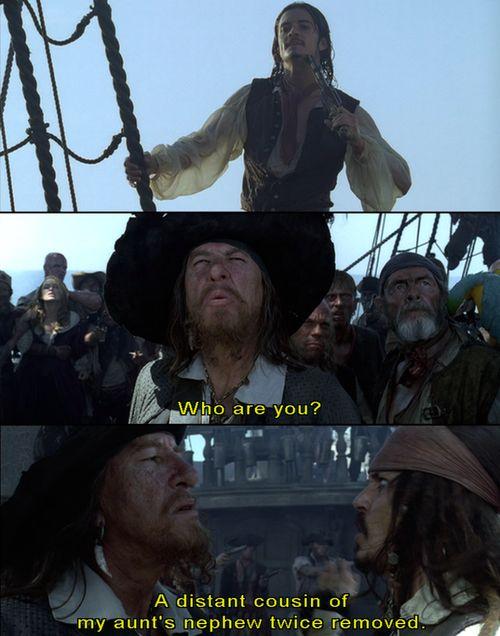 Pirates of the caribbean funny scene