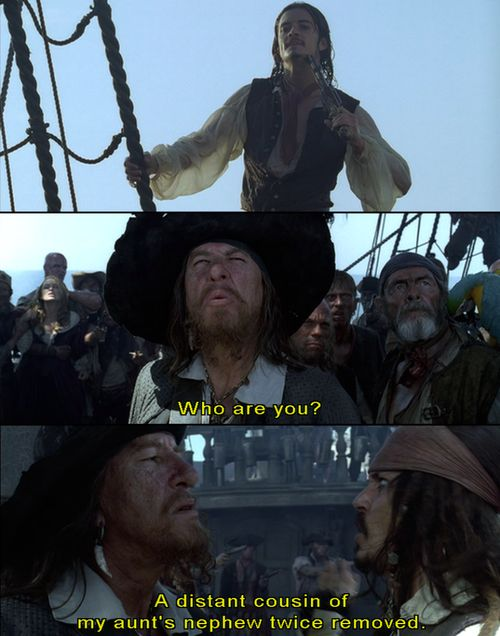 Pirates of the caribbean funny scene