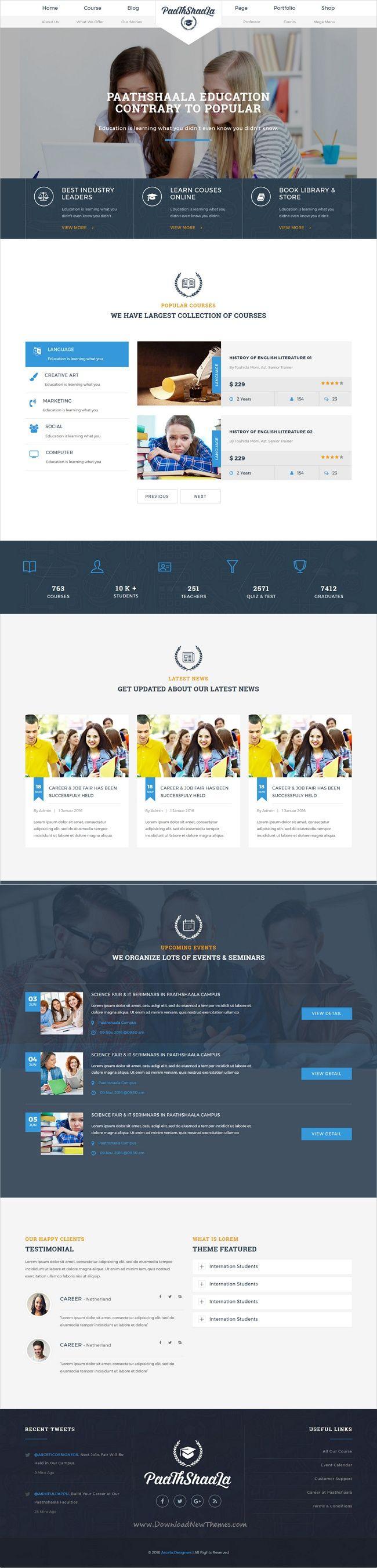 Best 25 website template ideas on pinterest business website paathshaala education website template pronofoot35fo Choice Image