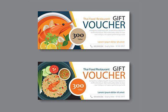 Thai Food Discount Voucher Template