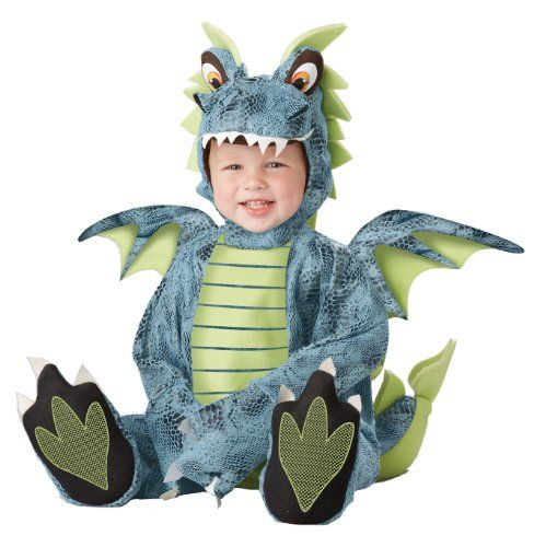 California Costumes Men's Darling Dragon Infant, Blue/Lime, 12-18