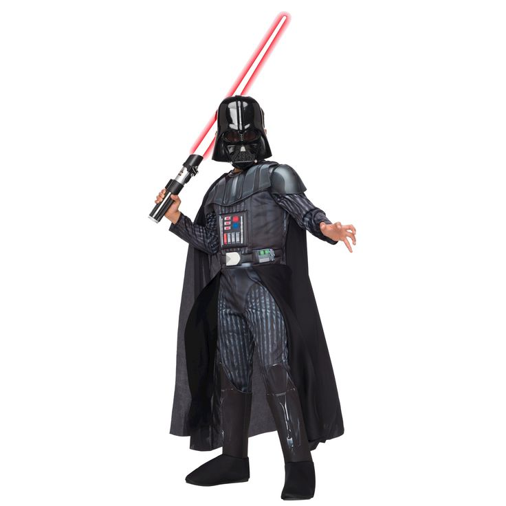 Halloween Boys' Star Wars Darth Vader Deluxe Costume - L (10-12), Multicolored