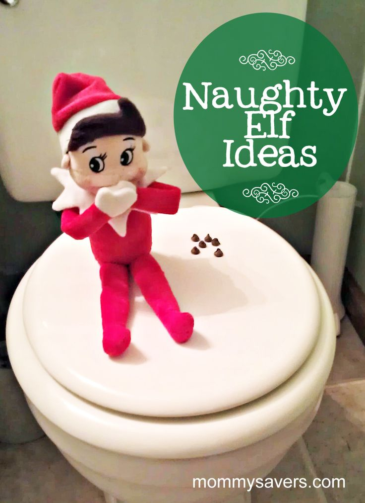 Naughty Elf on the Shelf ideas... The boys will love these!