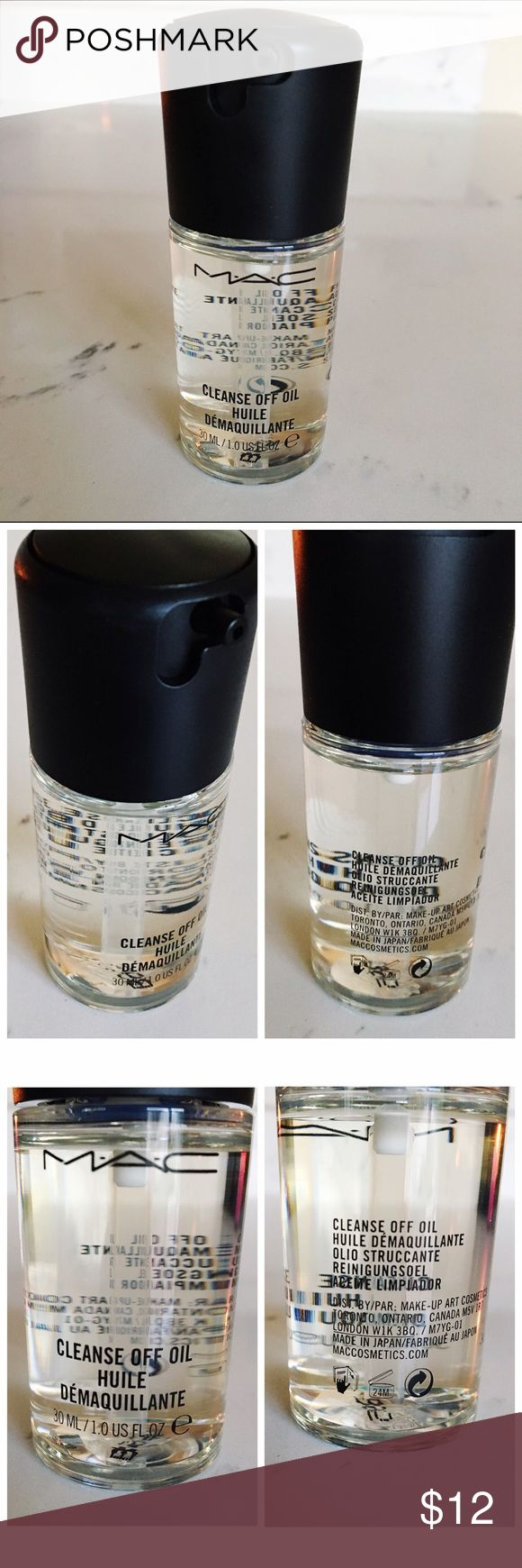 MAC Cleanse Off Oil Mini New, never used. Not tag as these don't come tagged. MAC Cosmetics Cleanse Off Oil Sized to Go 30mL/1.0 fl oz. Last picture included from MAC website including their description of product. Great for removing makeup. Twist locking top to secure when not in use to prevent leaking. Please ask all questions prior to purchase. Thanks! *No trades. *Price firm. MAC Cosmetics Makeup