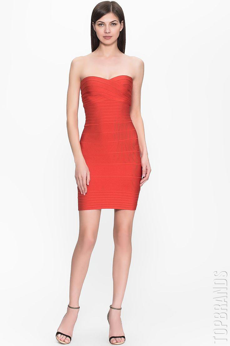 Красное бандажное платье-бюстье — http://fas.st/h-4T0Q