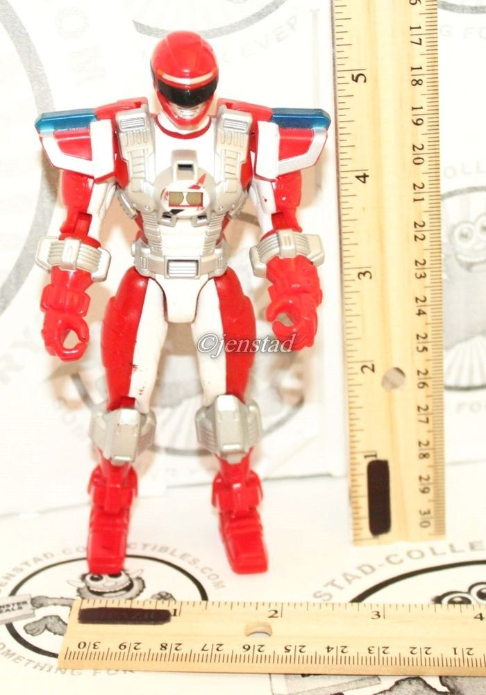 """POWER RED RANGERS OPERATION OVERDRIVE MISSION RESPONSE 5.5"""" TOY FIGURE 2006 #Bandai"""