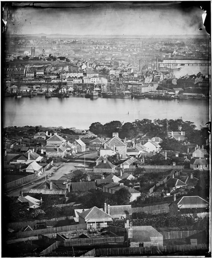 Dawes Point from McMahons Point in the 1870s.     •State Library of NSW•   🌹