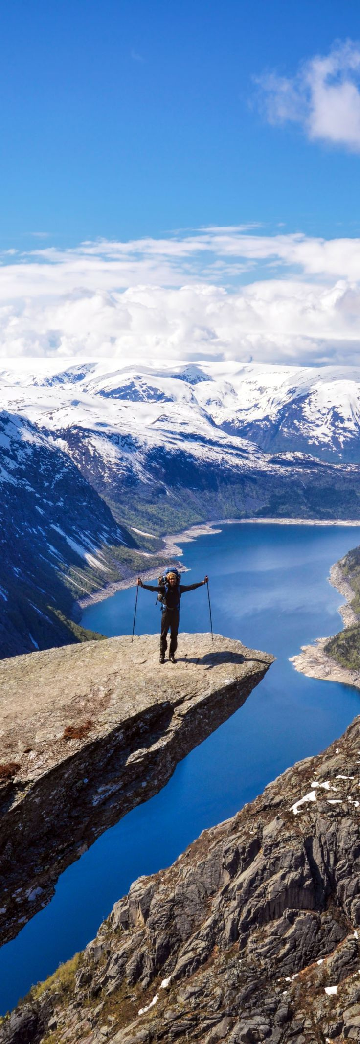15 reasons why Norway will Rock your World   3. Trolltunga rock, Norway backpack in Norway